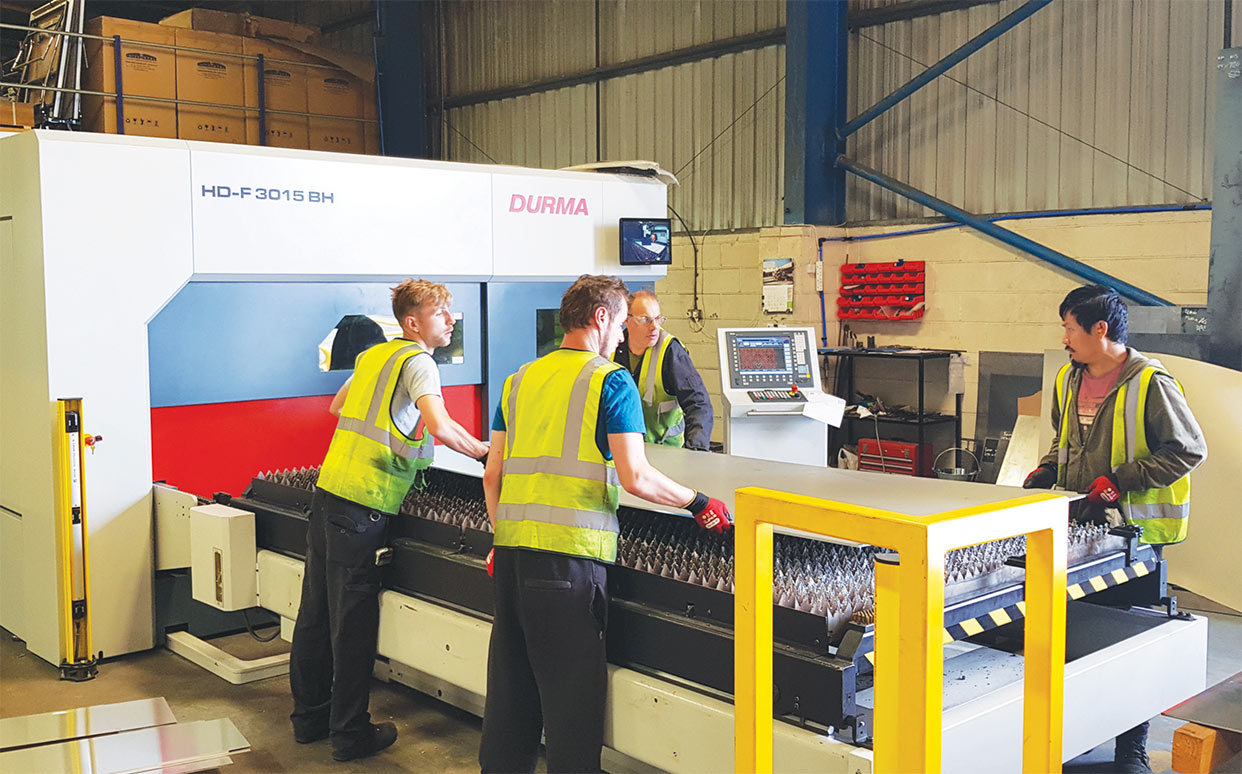 State of the art Durma HD-F fibre laser investment